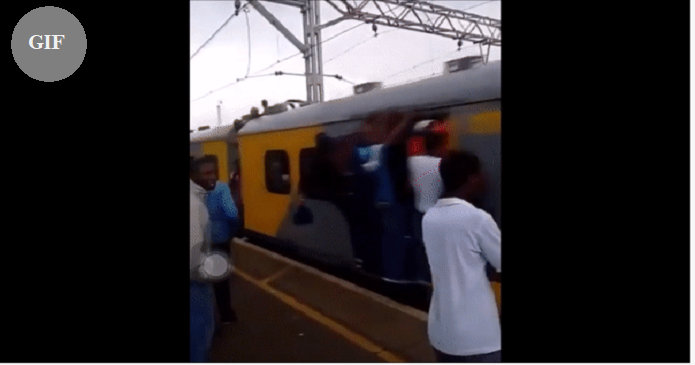 Don't step near to a train... South Africa