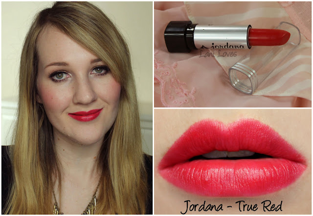 Jordana True Red lipstick swatch