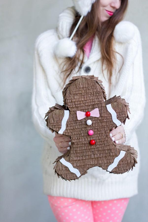 diy piñata con forma de galleta