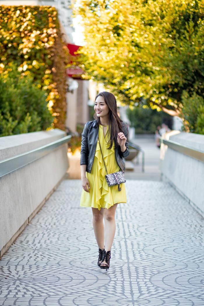 bcbg neon dress