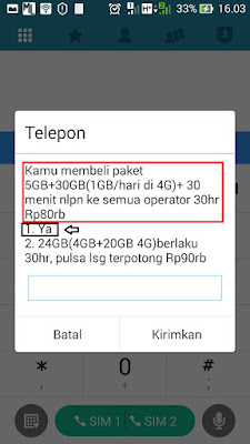 paket internet 3 4G Non Stop Murah