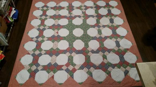 Della's first quilt | DevotedQuilter.blogspot.com