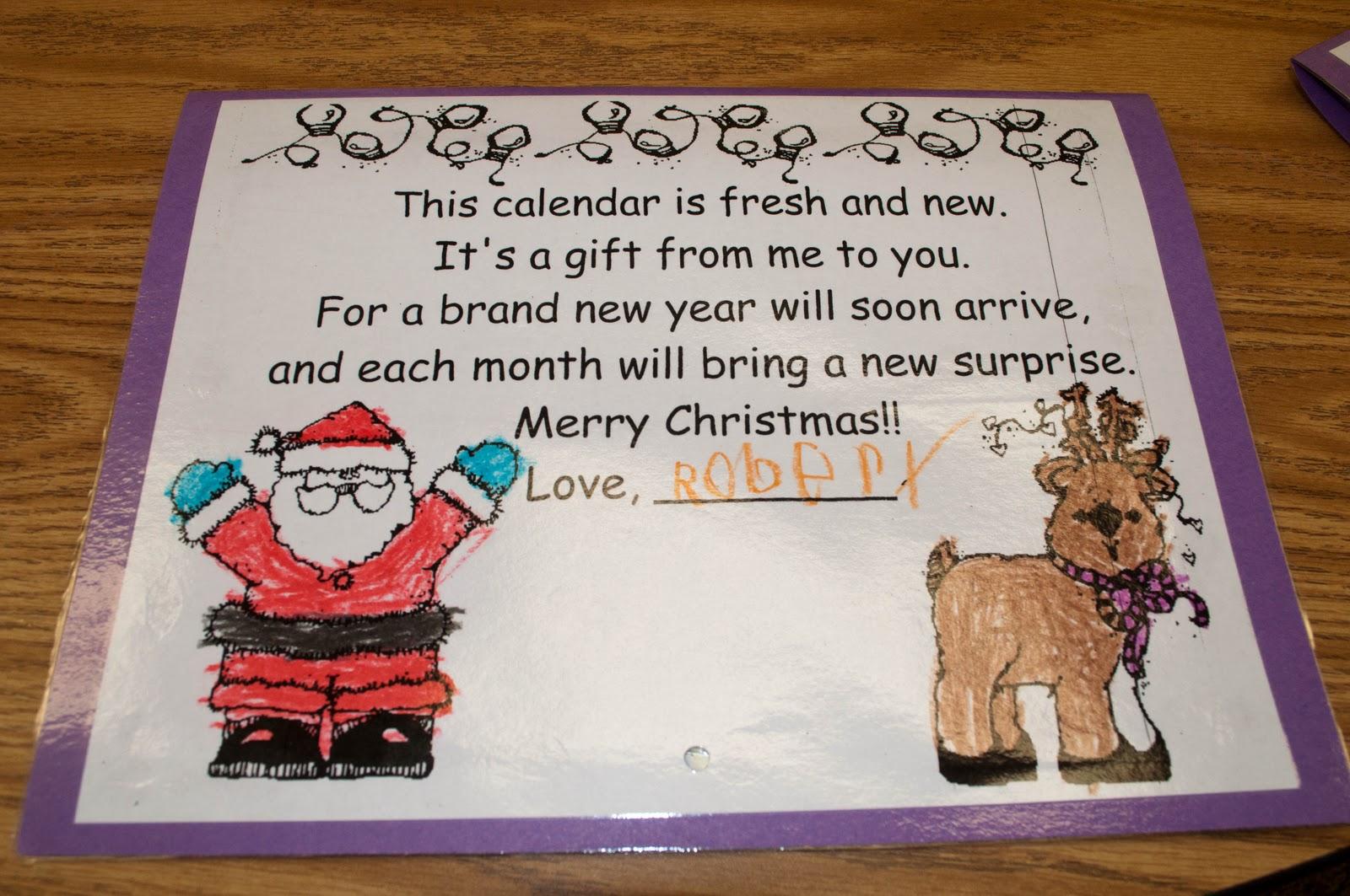 Mrs. Ricca's Kindergarten: Calendars - Parent Gifts