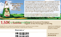 Logo Buono sconto Parmigiano Reggiano Parmareggio