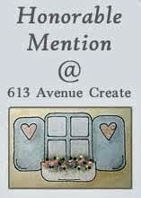 Honorable Mention on 613 Avenue Create #Challenge 160