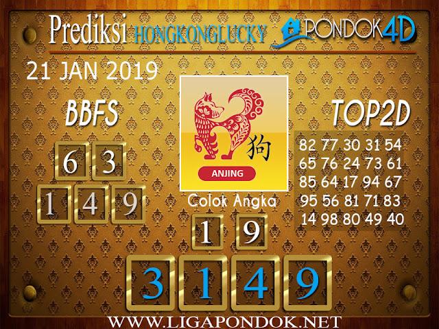 Prediksi Togel HONGKONG LUCKY7 PONDOK4D 21 JANUARI 2019