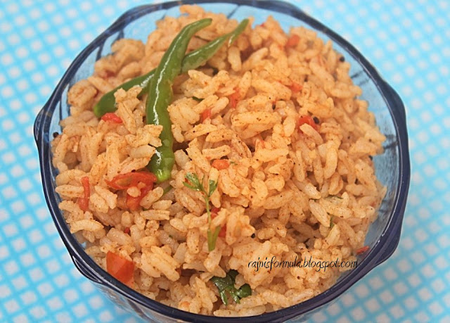Tomato Rice - Quick, Easy and Tasty