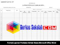 Format Laporan Penilaian Akhlak Siswa Microsoft Office Word