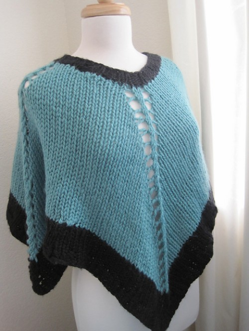 Easy-Knit Poncho - Free Pattern