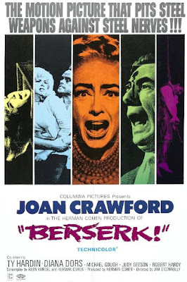 Berserk (1967) Joan Crawford, psycho-biddy, hag horror