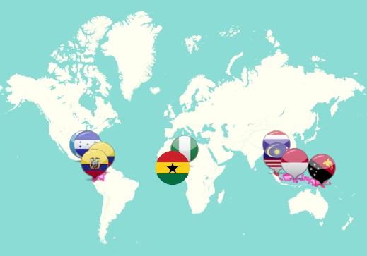 Peta Negara Penghasil Minyak Sawit