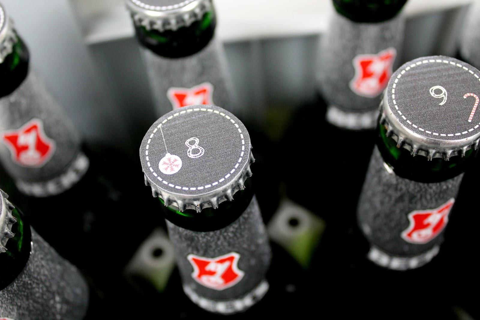 DIY, Basteln: Bierflaschenadventskalender in Weihnachtsgeschenke, Weihnachtsdekoration, Geschenkidee, Adventskalender - DIYCarinchen