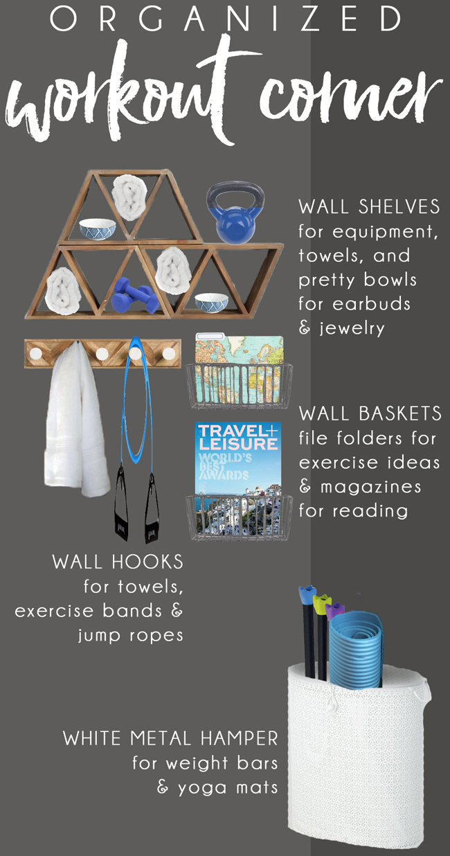 Workout Corner Organizing Plans