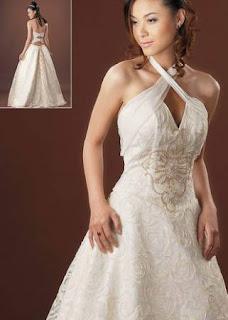 vestido de noiva simples frente única