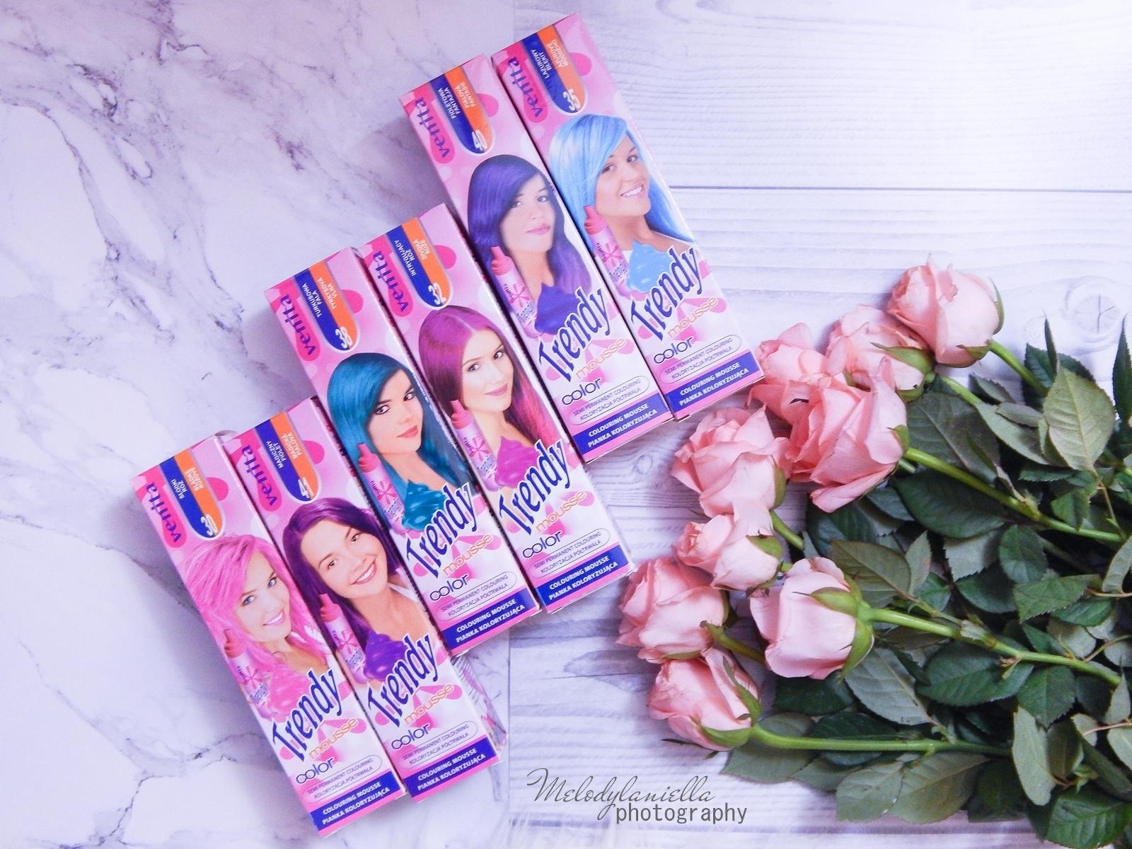 6 venita trendy cream ultra farba recenzja opinie trendy pastel mousse color ombre na czarnych ciemnych włosach fryzury ombte fryzury do szkoły srebrne włosy różowe włosy niebieskie włosy zmywalne ombre półtrwałe