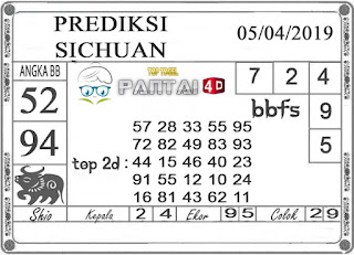 """Prediksi Togel """"SICHUAN"""" PANTAI4D 05 APRIL 2019"""
