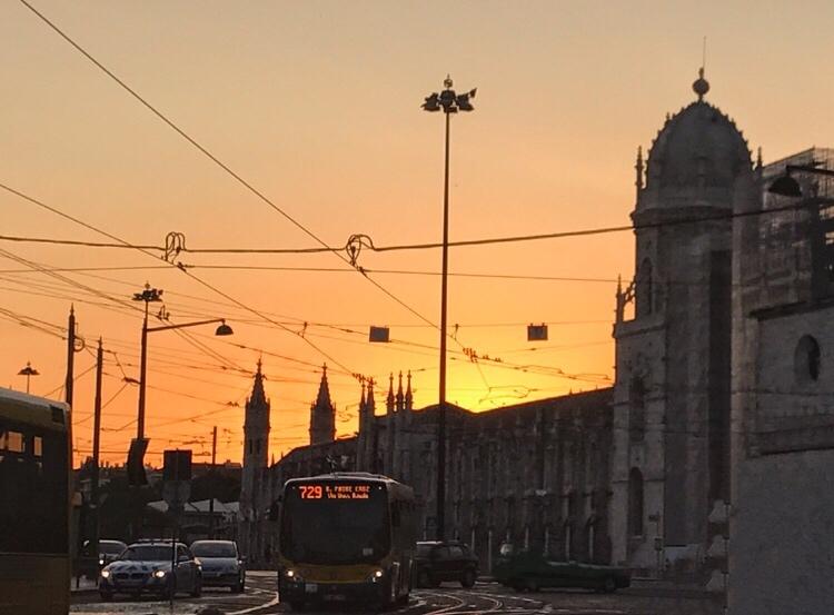 Monteiro dos Jerónimos at sunset