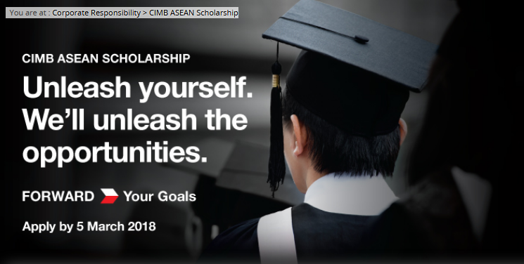 CIMB Bank Asean Scholarship 2018 Application Form Online