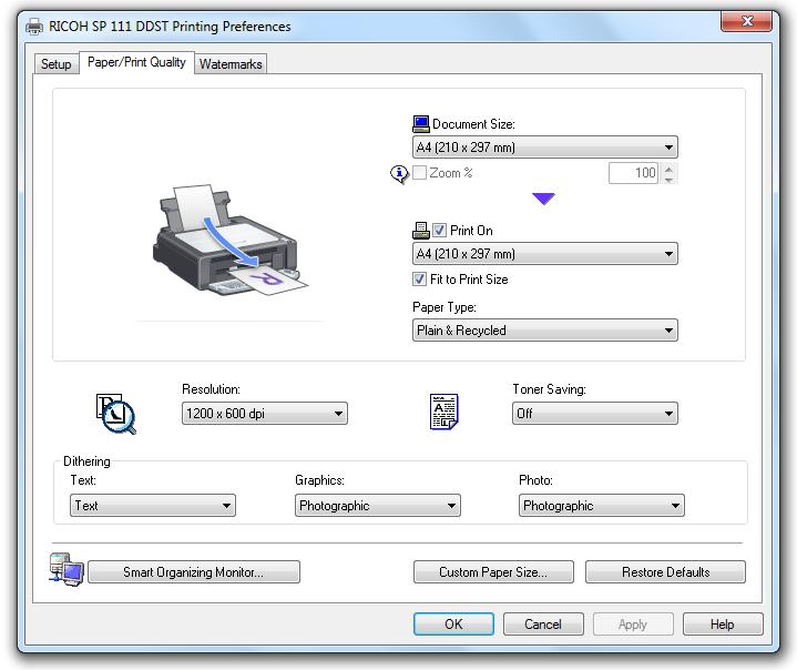Ricoh SP 111 Laser Printer Driver Download | Windows 10