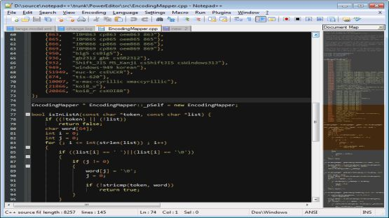 Notepad ++ screenshot 4