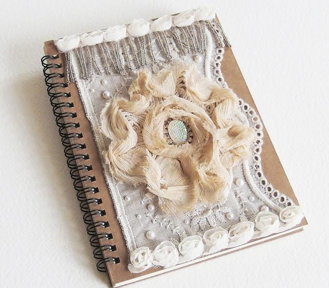 Cahier Romantique Shabby Chic - Lady Chatterley - Carnet de Note, Journal Intime, Livre d'or - Beige et Ivoire