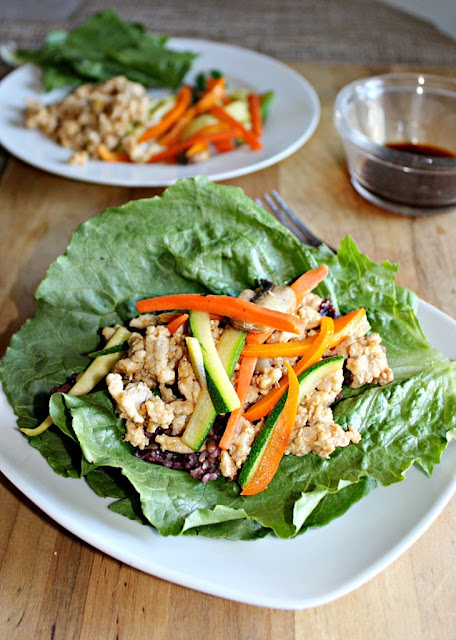 Featured Recipe | Asian Chicken Lettuce Wraps from Simple & Savory #SecretRecipeClub #recipe #healthy #chicken