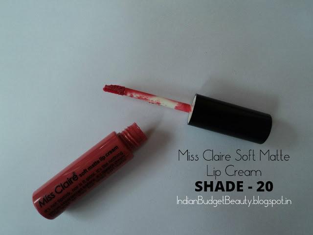 Miss Claire Soft Matte Lip Cream - 20 packaging