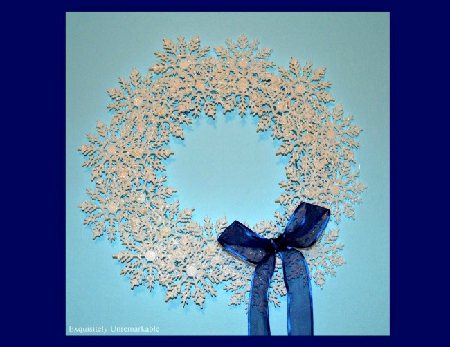How To Make A DIY Snowflake Wreath