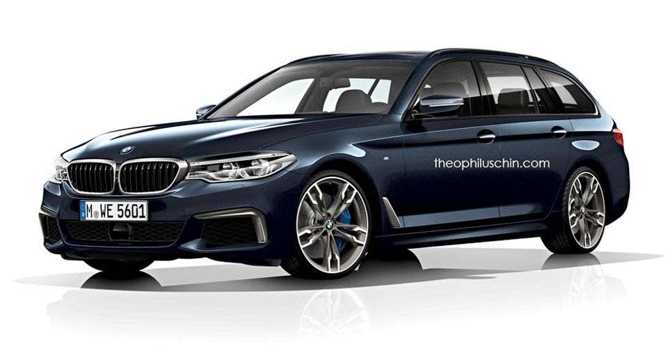new bmw 5 series touring set to debut at 2017 geneva auto show. Black Bedroom Furniture Sets. Home Design Ideas