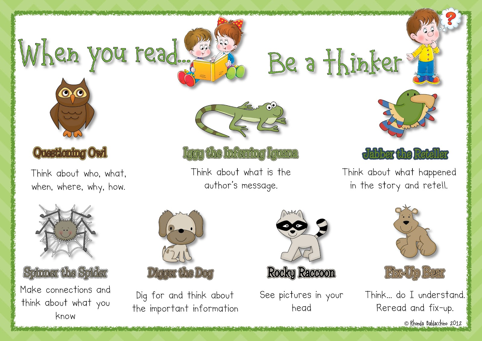 Classroom Fun Freebie Linky Comprehension Posters