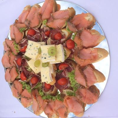 Fingerfood Canapées Herbst-Hochzeit in den Bergen, Lila, Orange, Riessersee Hotel Garmisch-Partenkirchen, Bayern, Autumn wedding in Bavaria, Lilac and Orange