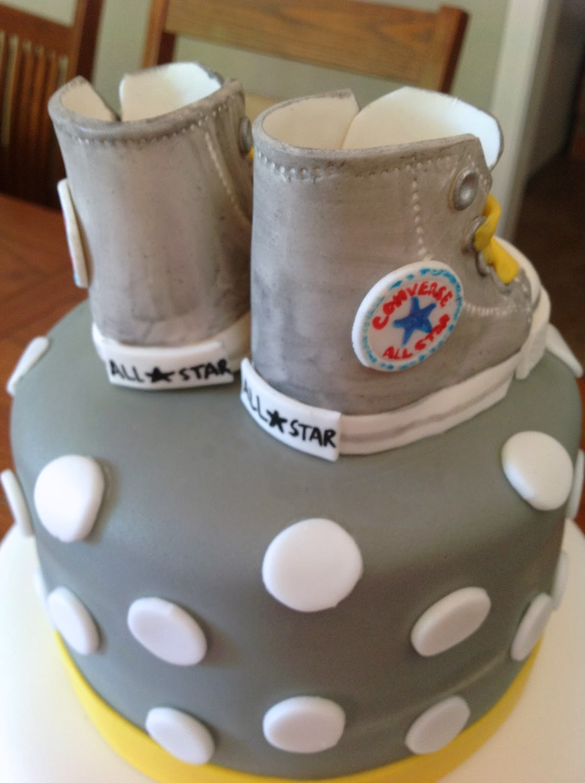 Plumeria Cake Studio: Gray and Yellow Baby Shower with ...