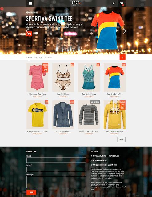 SpotCommerce – Blogger Shopping Template là một template bán hàng cao cấp được phát triển bởi Tiến Nguyễn. Đây là mẫu template rất tuyệt vời bởi các chức năng của nó