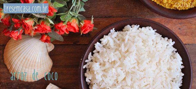arroz coco receita