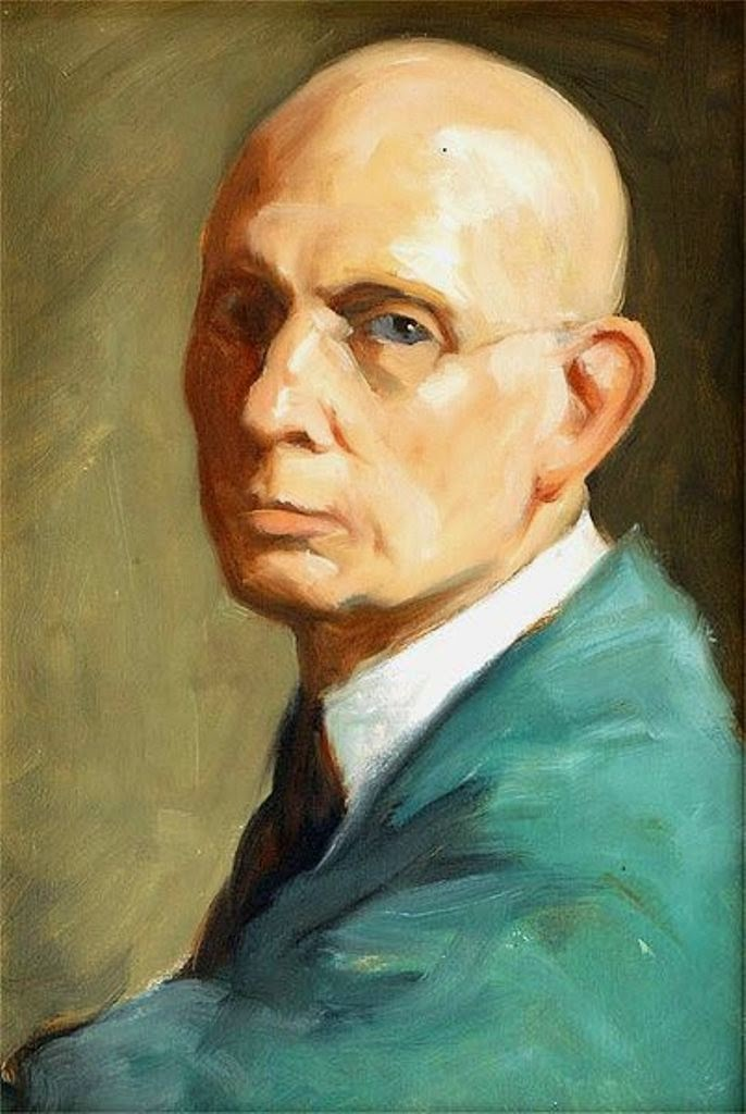 Lee Greene Richards, Self Portrait, Portraits of Painters, Fine arts, Painter Lee Greene Richards