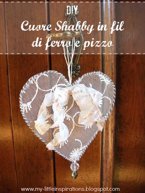 DIY Cuore Shabby in fil di ferro e pizzo - titolo IT - MLI