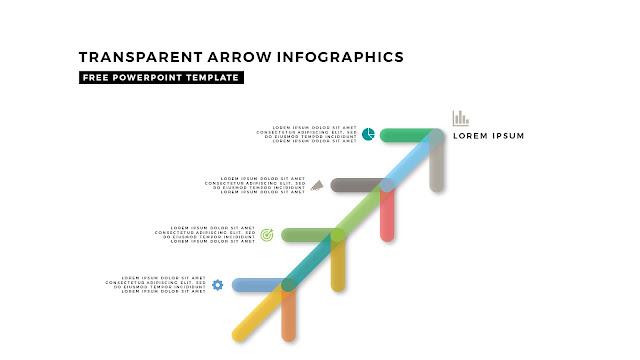 Transparent Arrow Design Elements for Free PowerPoint Template Slide 3