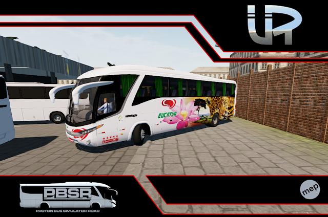 Skin Proton Bus Simulator Road - G7 1200 MB O-500 RS Viação Eucatur