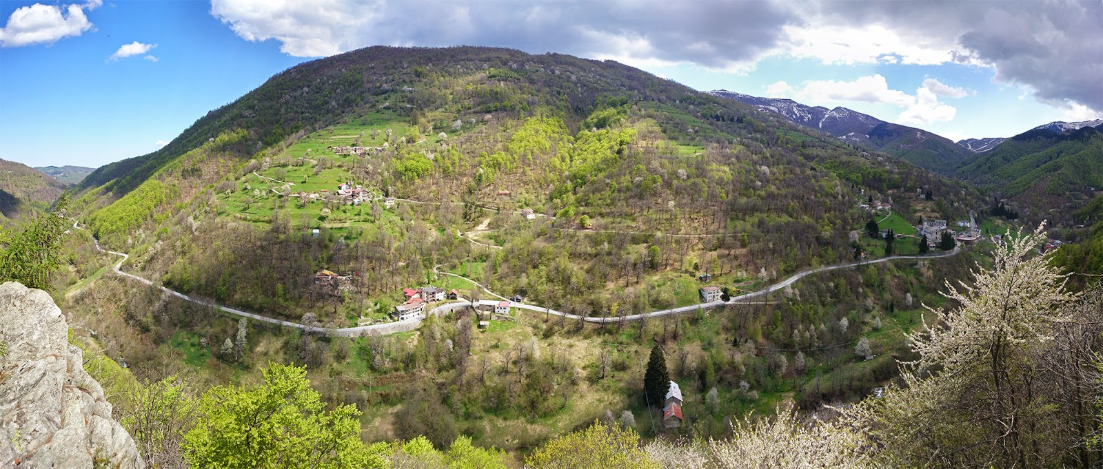 Panorama Valcasotto 180° da Frassanea