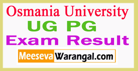 Osmania University UG PG Exam Result