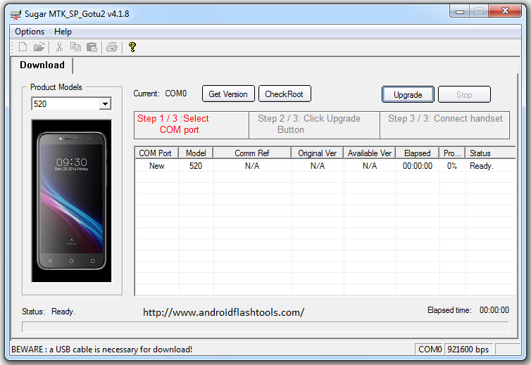 Download Sugar MTK SP Flash Tool To Flash Firmware On MTK Device
