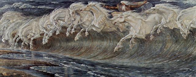 Walter Crane, Neptune's Horses, 1910