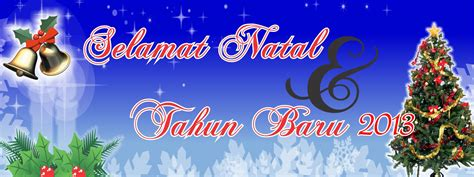 Contoh Desain Spanduk Dan Banner Natal dan tahun baru terbaru dengan Coreldraw