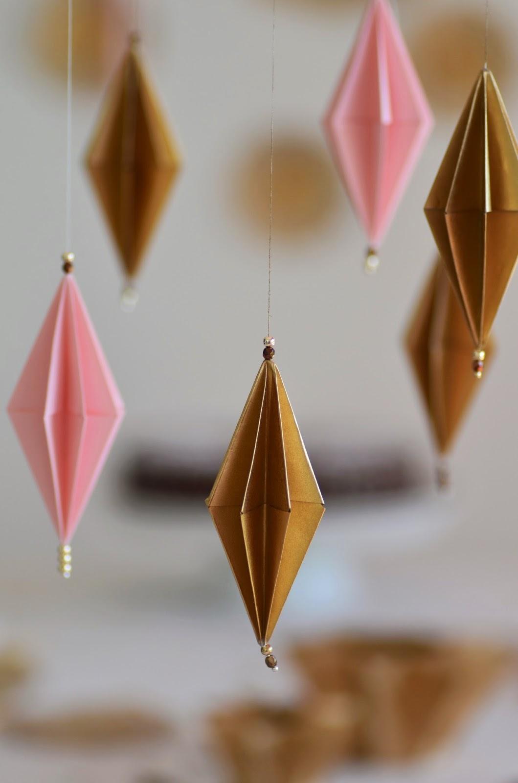 Beautiful Moments Origami Anhänger Und Origami Windlichter