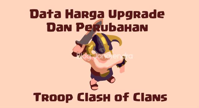 Data Harga Upgrade dan Perubahan Pada Troops Clash of Clans blog jonarendra