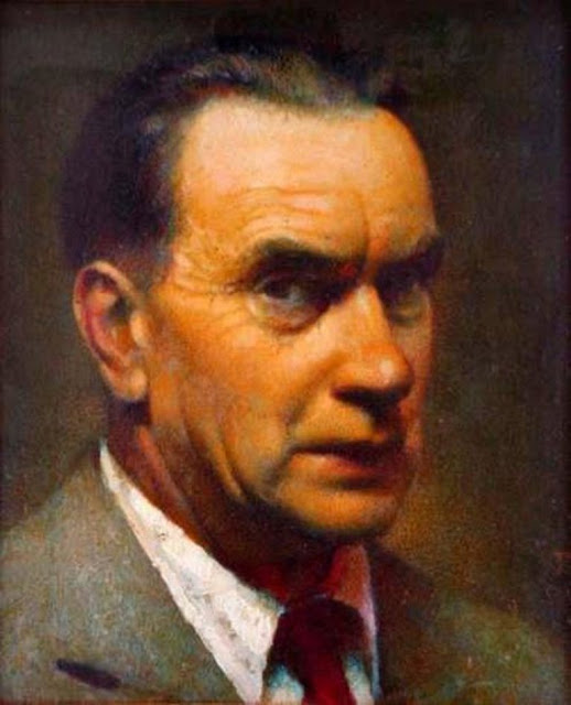 Carl Schmitt, Self Portrait, Portraits of Painters, Fine arts, Portraits of painters blog, Paintings of Carl Schmitt, Painter Carl Schmitt