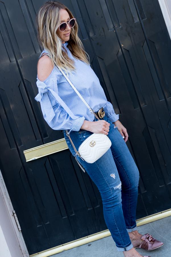 bow sleeve blouse parlor girl