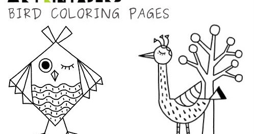 My Owl Barn: Bird Coloring Pages by Mr Printables