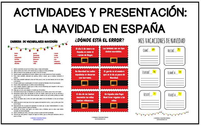 Presentaciones Feliz Navidad.Laclasedeele Actividades La Navidad En Espana