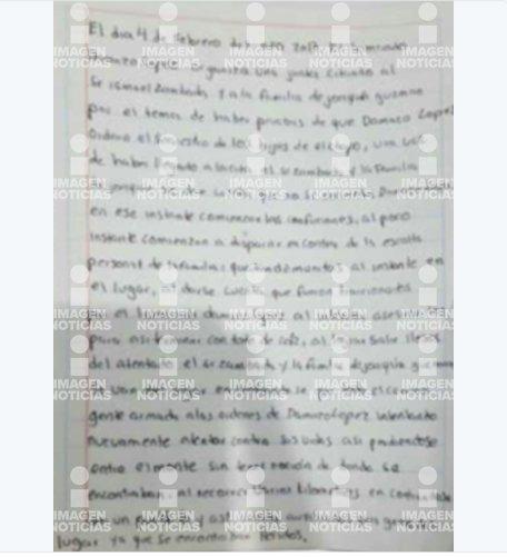 En carta envíado por Los Chapitos aseguran que Los Damasos intentaron matarlos cuando iban con El Mayo Zambada y quedaron heridos